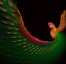 Fractal Background Of Bright Beautiful Peacock