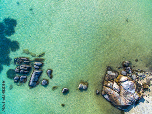 Door stickers Olive Koh Phangan beach aerial view