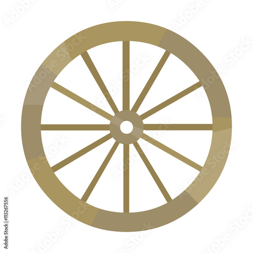 Fotografía  Cart-wheel icon cartoon