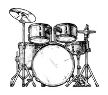 Illustration Of Drum Kit