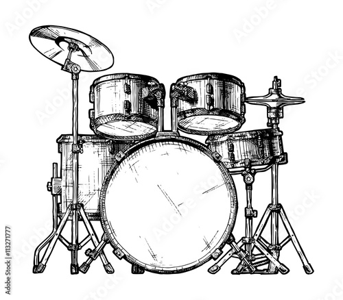 Foto illustration of drum kit