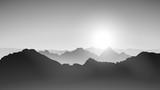 mountains grey 8 - 113272706