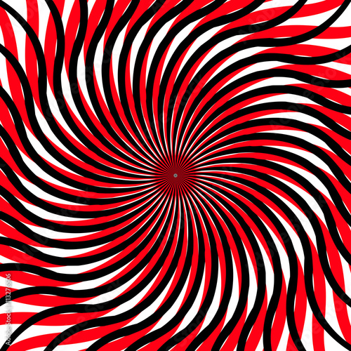 Fotografia, Obraz  abstract vector image on the basis of divergent, convergent rays
