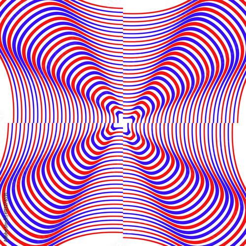 Fotografie, Obraz  divergent, convergent circles.