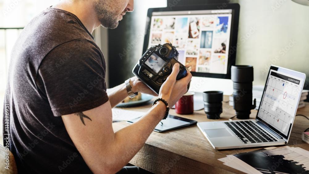 Fototapety, obrazy: Photographer Photograph Photo Photography Concept
