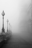 Lamps in a fog. - 113280933