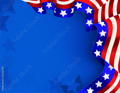 Fotografia  US flag background