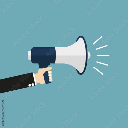 loudspeaker icon Fototapeta