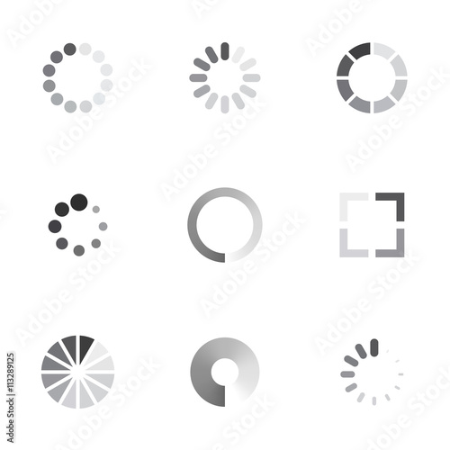 Pinturas sobre lienzo  Vector loading icons set