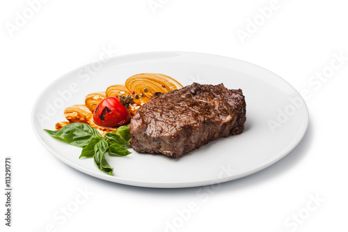 Keuken foto achterwand Steakhouse Grilled beef steak