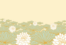 A Field Of Lotus Poster Backgr...