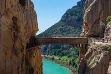 """Gorge Of The Gaitanes And """"El Caminito Del Rey"""" Path, Malaga (Spain)"""