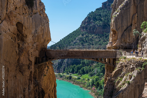 Photo Stands Canyon Gorge of the Gaitanes and