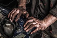Working Man Near Engine