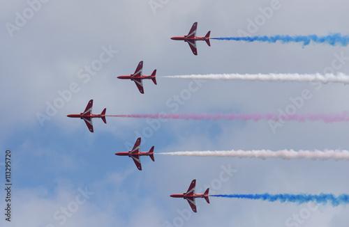 RAF Red Arrows, Hawk T1A - TORBAY AIRSHOW, Paignton 11-12/June/2016 Fototapeta