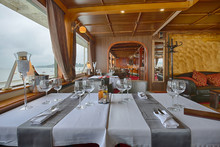 Interior Of A Luxury Cruise Re...