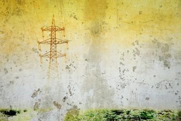Fototapeta Grunge pylon textured image