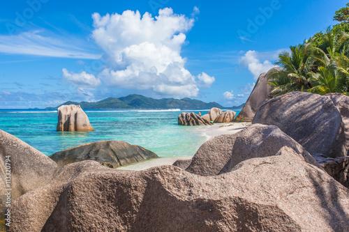Foto op Canvas Eiland plage d'Anse Source d'Argent, la Digue, les Seychelles