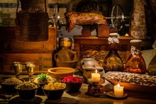 Medieval Ancient Kitchen Table...