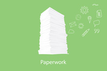 Paper Work Document With Icon ...