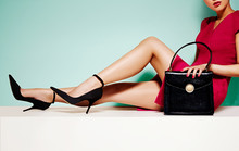 Beautiful Legs Woman With Blac...
