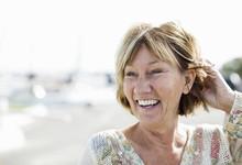 Happy Mature Woman Looking Away