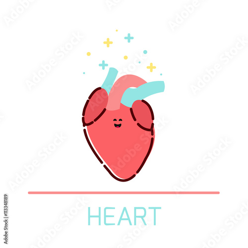 Cute healthy heart icon made in cartoon style heart cartoon cute healthy heart icon made in cartoon style heart cartoon character human body organs ccuart Gallery