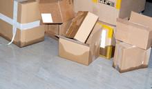 Sturmschaden -Wasserschaden Im Lager. Logistik