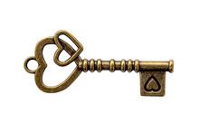Key Vintage And Heart Shape On...