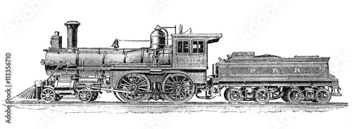 19th century, American steam locomotive for passenger transport