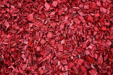 Red Wood Chips. Red Garden Mul...