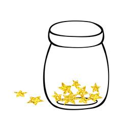 Jar with gold stars
