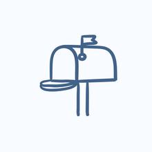 Mail Box Sketch Icon.