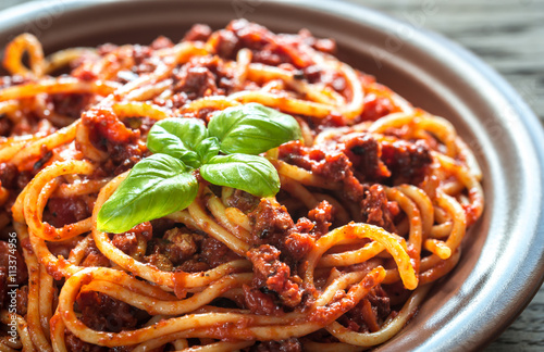 Spaghetti with bolognese sauce Wallpaper Mural