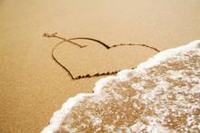 Drawn Heart Symbol Washed Away