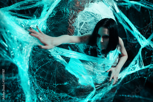 Photo  Woman in cocoon