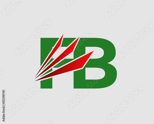 Fb Initial Company Logo Buy This Stock Vector And Explore Similar
