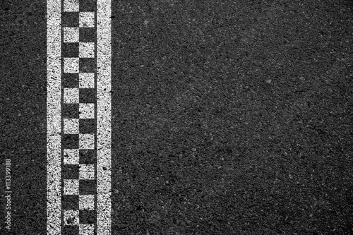 Fotografiet  Finish line racing background.