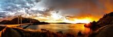 Lake Oroville Sunset Panorama