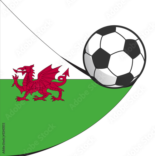 Poster  football soccer wales abstract design vector icon isolated on white background