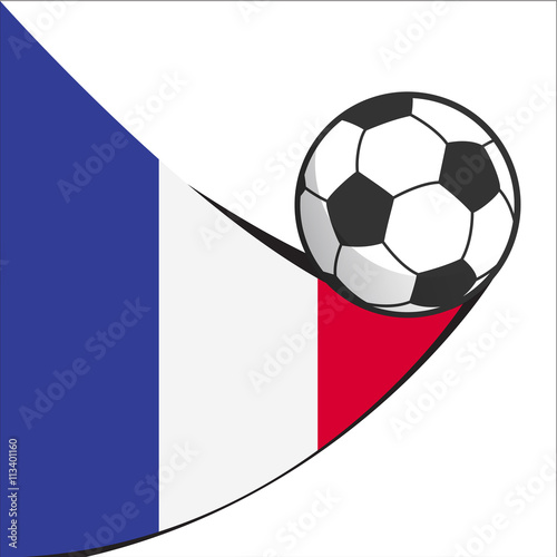 Fotografia  football soccer  france abstract design icon isolated on white background