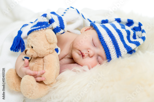 fototapeta na drzwi i meble sleeping baby infant girl