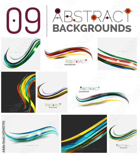 Fotografía Set of abstract backgrounds