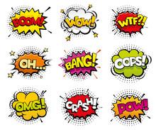 Comic Sound Effects In Pop Art...