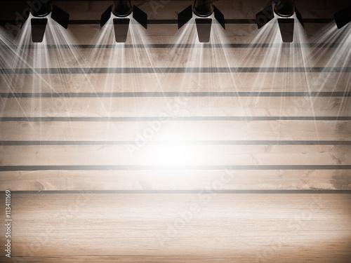 Foto op Canvas Licht, schaduw Illuminated empty concert stage