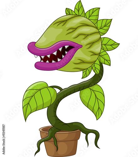 Cartoon carnivorous plant Poster Mural XXL