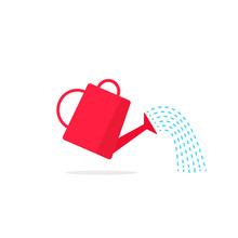 Watering Can Icon Vector With ...