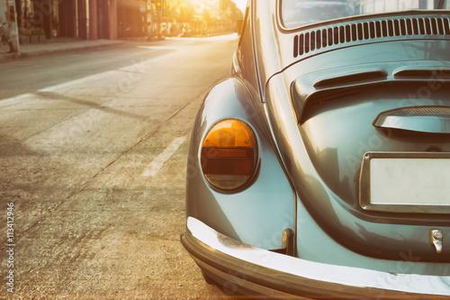 Fotografia, Obraz  Rear of vintage car - retro color effect style