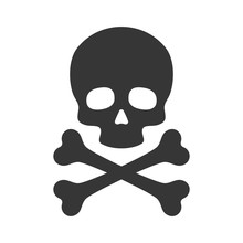 Skull And Crossbones Icon On W...