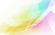 canvas print picture - abstract colorful curved background.